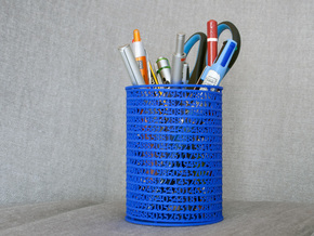 Pi Pen Holder medium in White Strong & Flexible