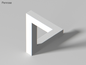 Escher Penrose Triangle in White Strong & Flexible