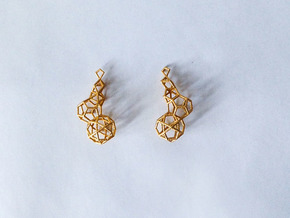 Earring_geometry in Polished Gold Steel