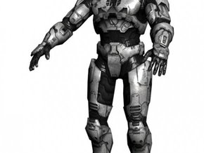 Halo 3 SPARTAN Master chief in White Strong & Flexible