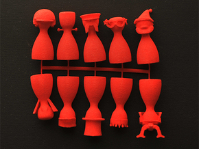 Game Piece Set 3 in Red Strong & Flexible Polished