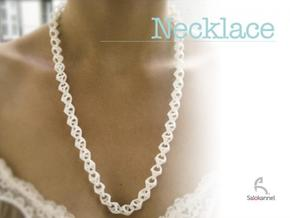 600-Necklace in White Strong & Flexible Polished