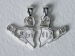 Claddagh Pendants 'Best Friends For Life' in Polished Silver