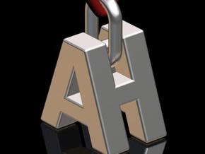 """A & H"" 3d Logotype  in Stainless Steel"