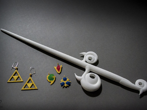 Windwaker Wand Small in White Strong & Flexible