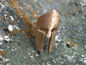Spartan Helmet Ring in Raw Bronze