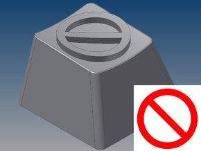 """""""No Symbol"""" Keycap (R4, 1x1) in White Strong & Flexible"""
