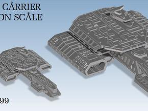 Deep Space Carrier Fleet Action in White Strong & Flexible