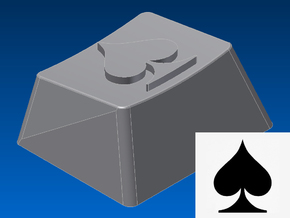 Spade Keycap (R1, 1.25x) in White Strong & Flexible