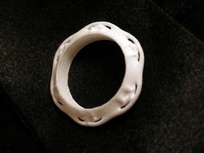 Flower Ring (Size: 6) in White Strong & Flexible Polished