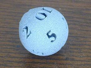 Round 12-sided die in White Strong & Flexible