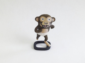 Diaper Monkey in Full Color Sandstone