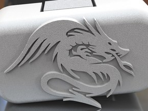 Phantom 1.5 Door - Dragon in White Strong & Flexible