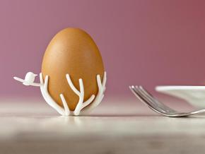 birdsnest-eggcup in White Strong & Flexible
