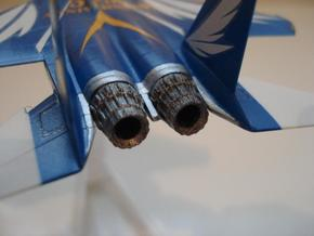 004A 1/144 F-15 Nozzle - Closed in White Strong & Flexible