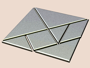 tangram in White Strong & Flexible Polished