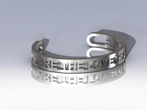 Message Cuff Medium in Stainless Steel