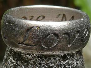 Ring Of Love in Stainless Steel