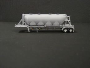 N scale 1/160 J&L/Heil 1636 Dry Bulk Trailer 18 in Frosted Ultra Detail