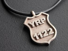 Police Badge Pendant in Stainless Steel