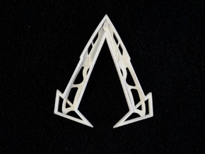 "Ammnra ""A"" Hidden Symbol/Belt Buckle in White Strong & Flexible"