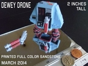2 Inches DRONE 1 DEWEY Full Color in Sandstone