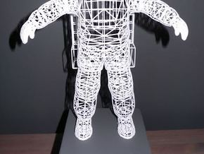 Astronaut Wireframe - 300mm in White Strong & Flexible