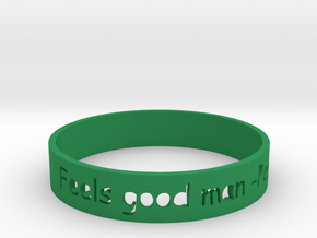 Feels good man Bracelet in Green Strong & Flexible Polished