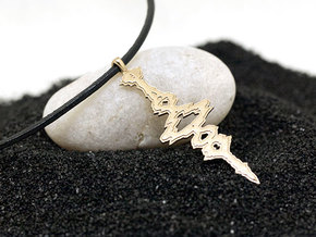 "Hebrew ""I Love You"" Sound Wave Pendant 