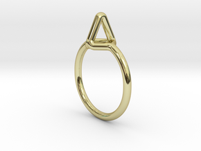 """""""Summit"""" Ring S.02, d=16,5mm (all sizes on demand) in 18k Gold Plated"""