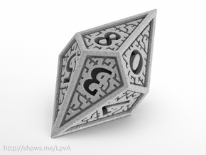 Hedron D10 (Solid), balanced gaming die in Polished Metallic Plastic