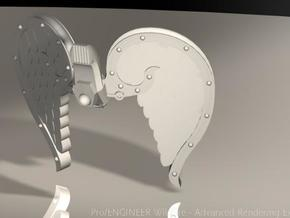 4x Mech Angel Wings in White Acrylic
