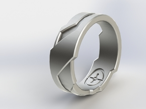 GD Ring (Choose Size Below) in Polished Grey Steel