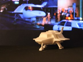 Skyfighter - Door Open 1:72 (V, The Visitors) in White Strong & Flexible