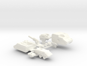 Colony Castings Combined Set 3 in White Strong & Flexible Polished