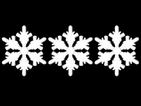 3 Tiny Frozenflakes in White Strong & Flexible