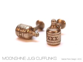 Moonshine Cufflinks in Stainless Steel