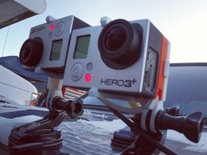 GoPro HERO 3+ 3D System: Wider Lens Separation  in White Strong & Flexible