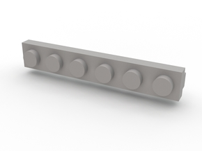 Brick Tie Clip-6 Stud in White Strong & Flexible Polished