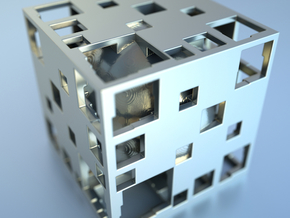 Undead Cube Sphere Menger F27 in Blue Strong & Flexible Polished
