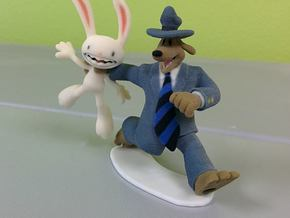Sam & Max - 80mm (3.15inch) in Full Color Sandstone