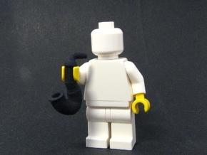 Smoking pipe for minifigures in Black Acrylic