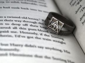 Deathly Hallows Ring Size 7 in Stainless Steel