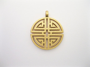Longevity Pendant in Matte Gold Steel