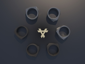 Qx2 - Ring / Size 7 in Black Strong & Flexible