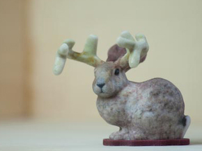 Stanford Buck Rabbit in Full Color Sandstone