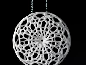 Cellular Pendant in White Strong & Flexible Polished