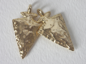 Arrowhead Earrings / Pendants in Raw Brass