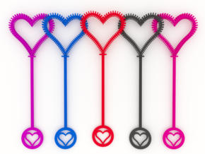 Heart Bubble Wand in White Strong & Flexible