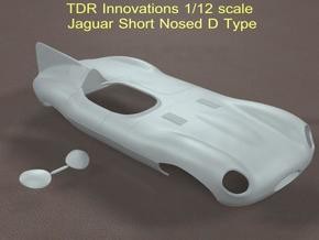 1/12 Jaguar Short Nose D Type in White Strong & Flexible